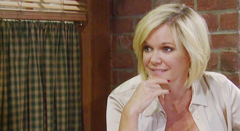 Ava as she reveals the blanket to Scotty on General Hospital