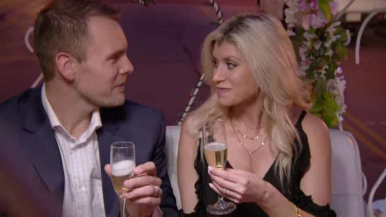 Dave Flaherty and Amber Martorana share a romantic moment on Married at First Sight