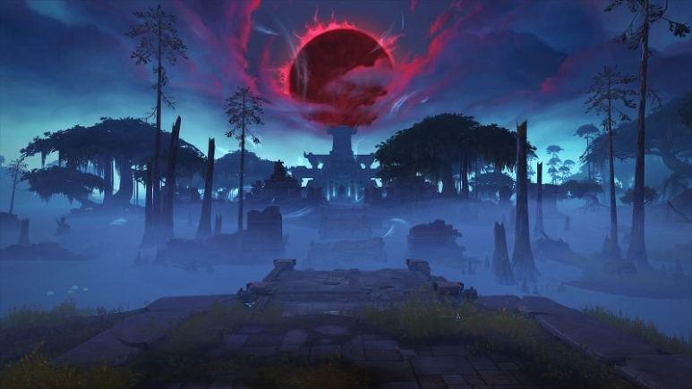 Blood Moon over Zandalar.