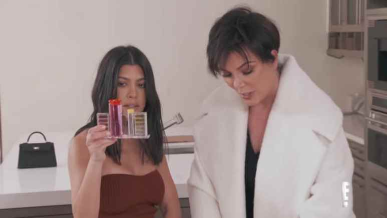 Kourtney and Kris test the water supply on Keeping Up With The Kardashians
