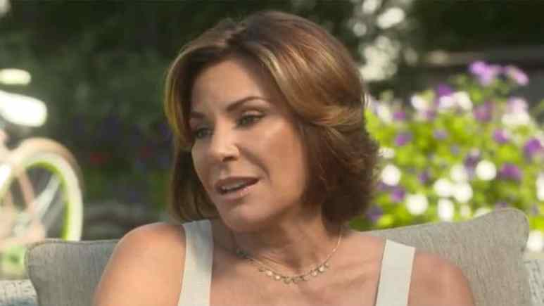 Luann de Lesseps talking to Andy Cohen after divorce from Tom D'Agostino