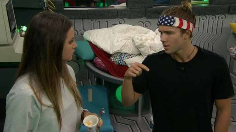 Angela and Tyler in the Big Brother 20 house