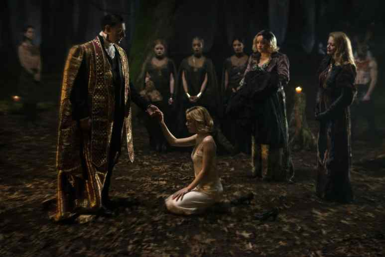 Kiernan Shipka's Sabrina is initiated into a coven of witches