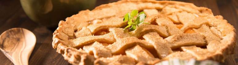 Chef Nations says use any bourbon you like for this great baked pie