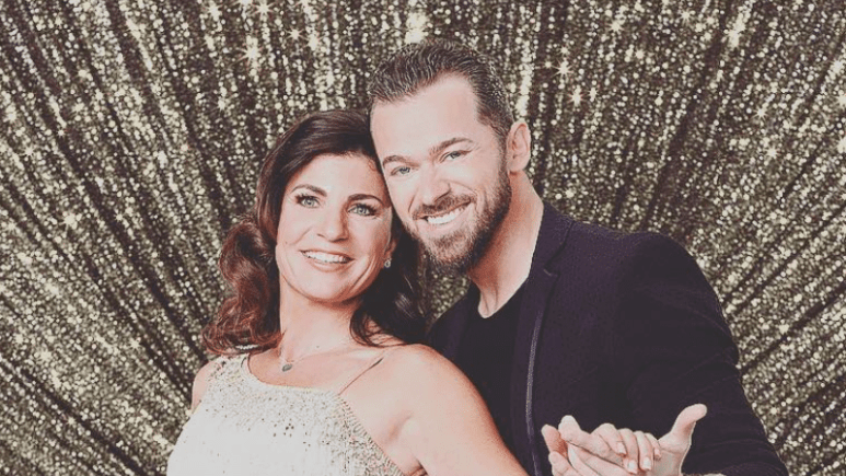 Danielle Umstead with her partner Artem on Dancing With The Stars