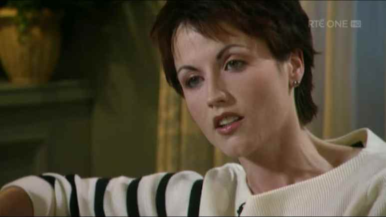 Dolores O'Riordan in an interview for a documentary about The Cranberries' singers' life