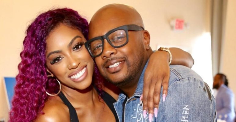 Porsha Williams and Dennis McKinley pose for a picture on his birthday