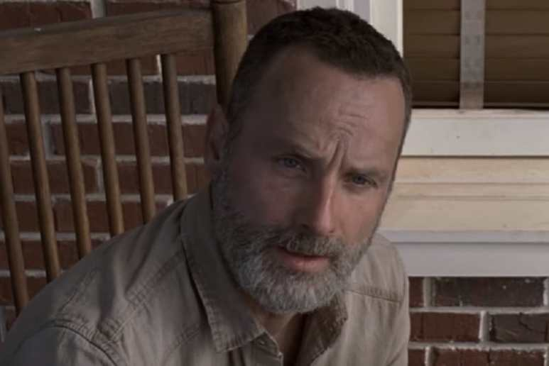Rick Grimes during Season 9 of The Walking Dead