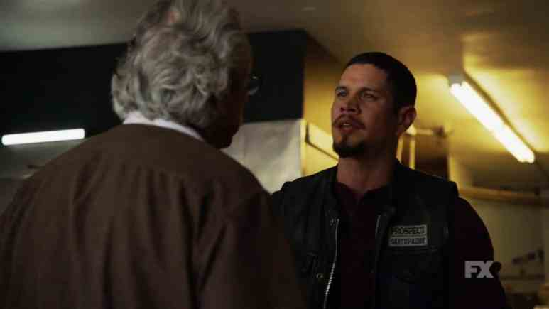Still image from Mayans M.C. Escorpión/Dzec preview. Filipe expresses to his son that he is all he has left. Pic credit: FX