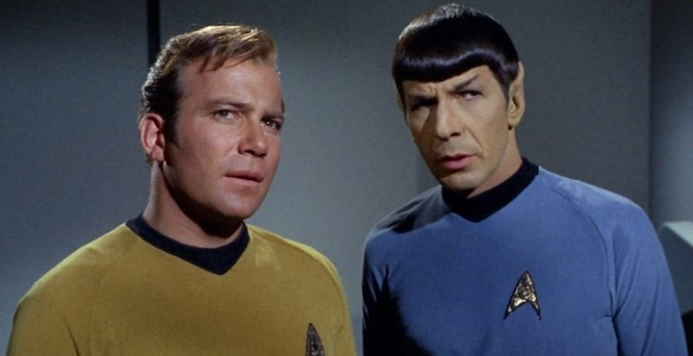 William Shatner and Leonard Nimoy in Star Trek