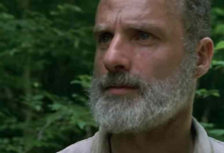 Andrew Lincoln as Rick Grimes on The Walking Dead