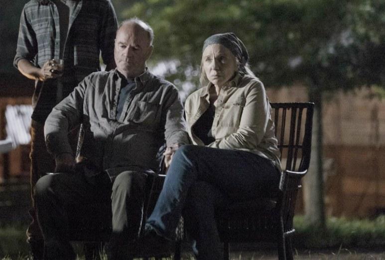 Gustavo Gómez as Marco, John Finn as Earl, Brett Butler as Tammy - The Walking Dead _ Season 9, Episode 1 - Photo Credit: Jackson Lee Davis/AMC