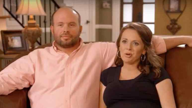 Eric and Courtney Waldrop in a confessional for Sweet Home Sextuplets