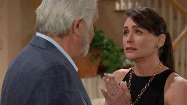 John McCook and Rena Sofer as Eric and Quinn on The Bold and the Beautiful