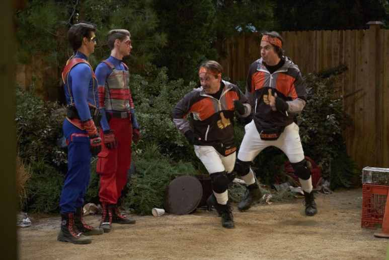 Henry Danger The Thumb Buddies sees Ray (Cooper Barnes), Henry (Jace Norman) Pic credit: Nickelodeon