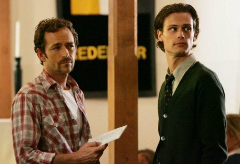 Luke Perry and Matthew Gray Gubler on Criminal Minds
