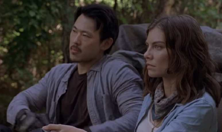 Maggie Greene transporting good during October 21 episode of The Walking Dead