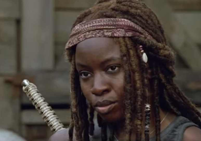 Michonne during The Walking Dead Season 9 Episode 2