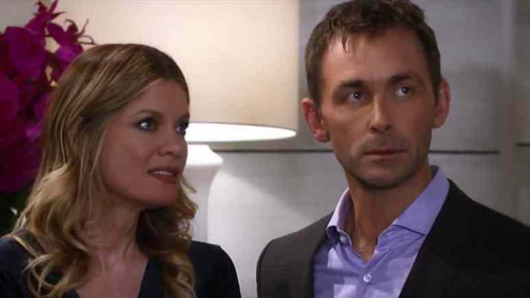 James Patrick Stuart and Michelle Stafford as Valentin and Nina on General Hospital
