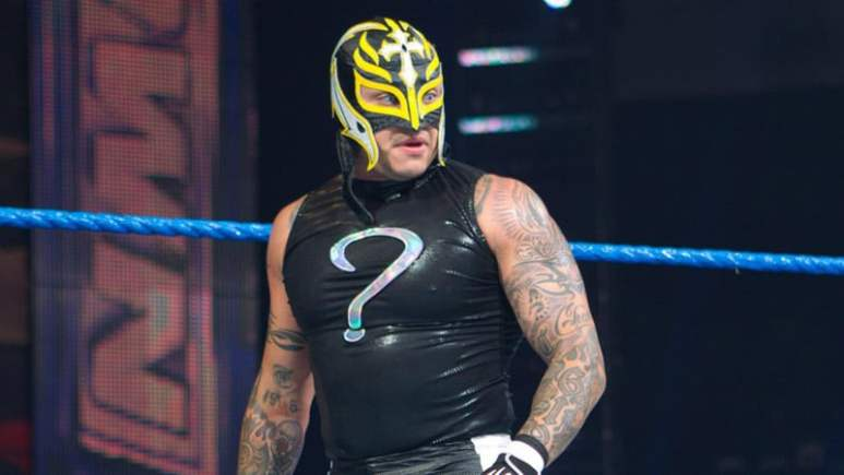 Rey Mysterio in the ring ahead of his return to the WWE