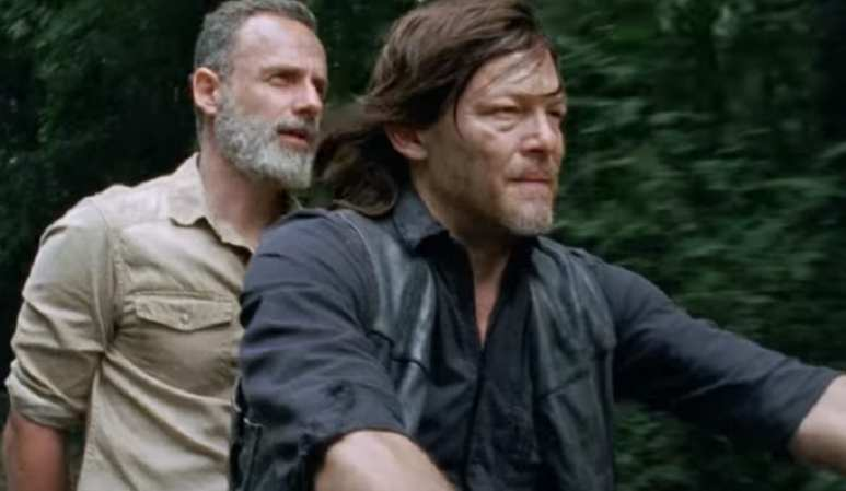 Rick and Daryl on Season 9 Episode 4 of The Walking Dead