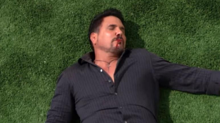 Bill after falling from the balcony on The Bold and the Beautiful
