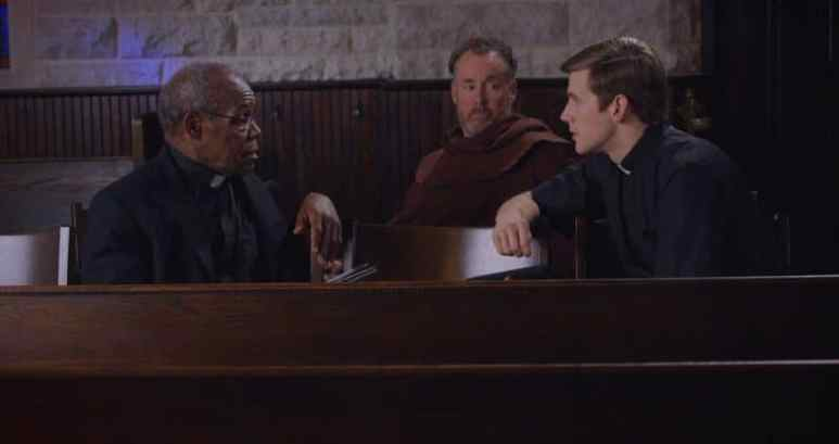 From left, Danny Glover, Zachary Spicer and John C. McGinley on the set of The Good Catholic, Pic credit: Pegasus Pictures