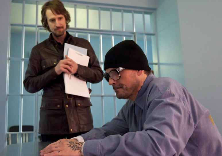 Lincoln put the screws into Otto, played by showrunner. Kurt Sutter Pic credit: FX