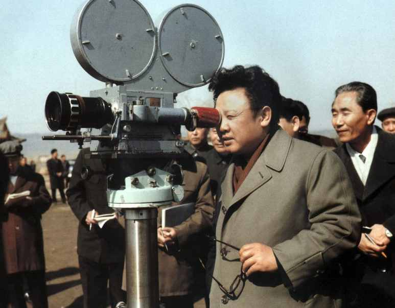 "Kim Jong-Il, the second leader of North Korea was a huge movie fan, here he is on the set of film ""An Jung Geun Avenges Hirobumi Ito"" in March 1979. Pic credit: Nat Geo"