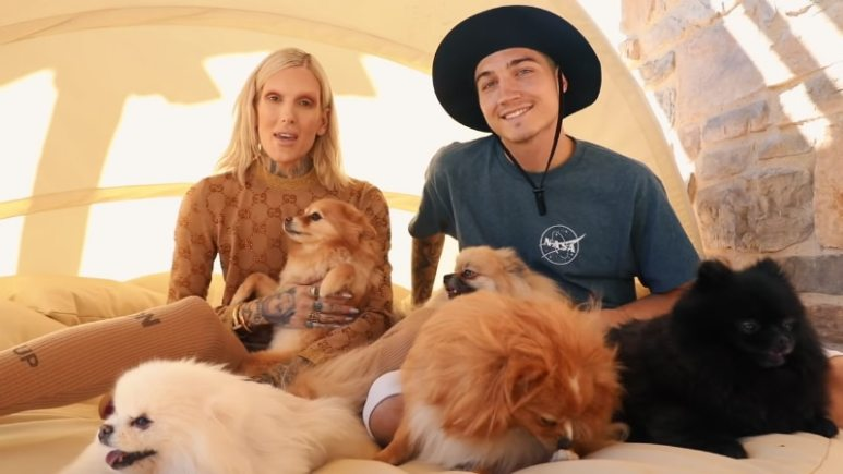 Jeffree Star and Nathan Schwandt share news of their new puppy