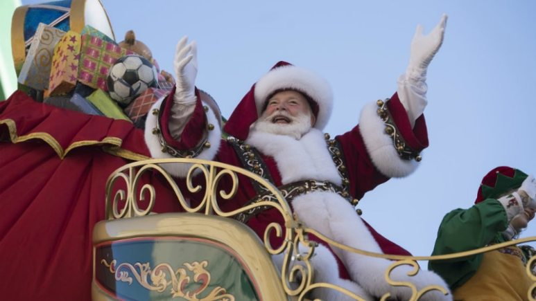 Santa Claus in the Macy's Thanksgiving Day Parade