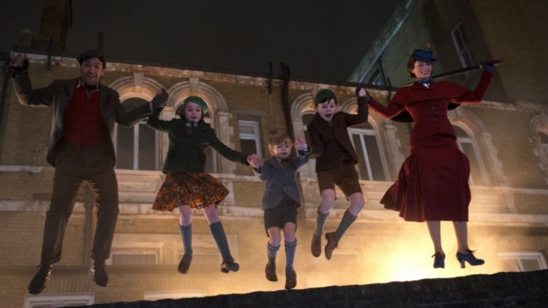 Scene from Mary Poppins Returns.