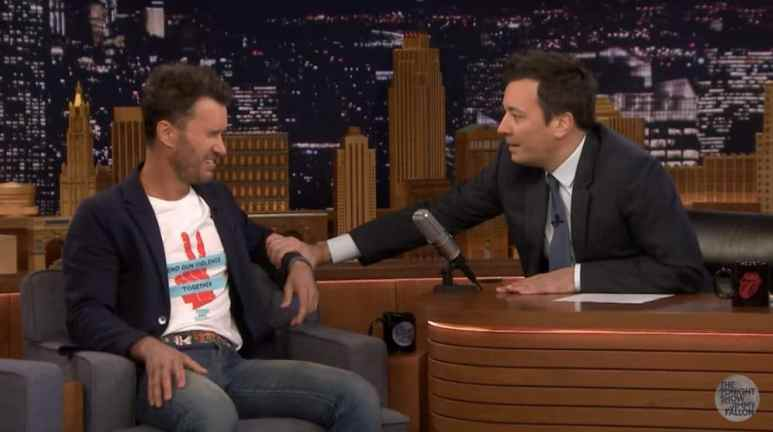 Blake Mycoskie's emotional moment on Jimmy Fallon's show where he talks about gun violence. Pic credit: The Tonight Show