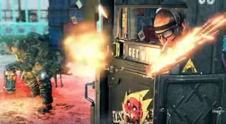 A still from the Call of Duty Black Ops 4 Nuketown trailer
