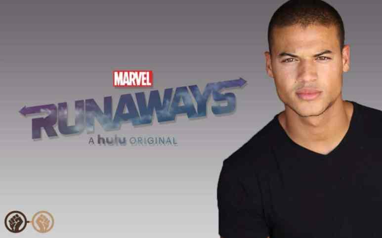 Luis Castellanos in a promo photo for Marvel Runaways