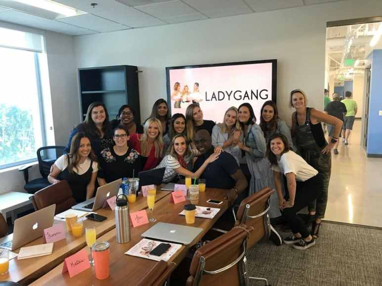 The Ladygang Crew behind-the-scenes is female and diverse. Pic credit: E!