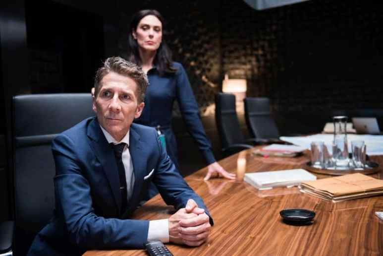 Berlin Station sees Valerie in charge (background) as Orser's Kirsch is serving out a last tour. Pic credit: EPIX