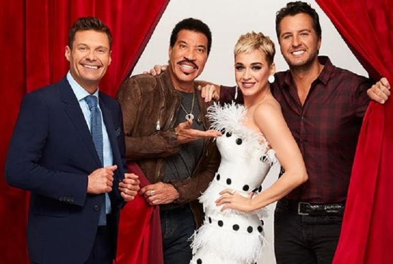 American Idol Lionel Richie, Luke Bryan, Katy Perry