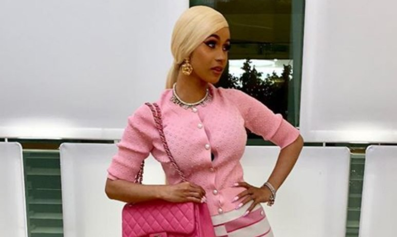 Cardi B shows off her outfit on Instagram