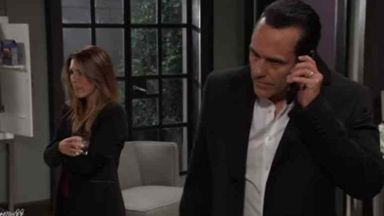 Elizabeth Hendrickson and Maurice Benard as Margaux and Sonny on General Hospital