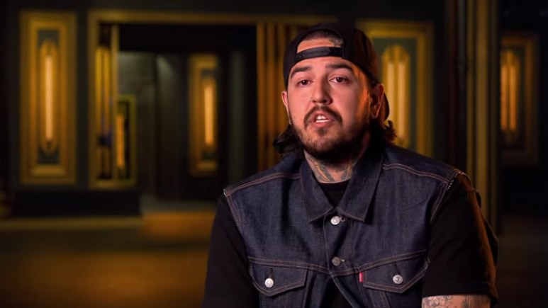 Tony Medellin in the confessional on Season 11 of Ink Master