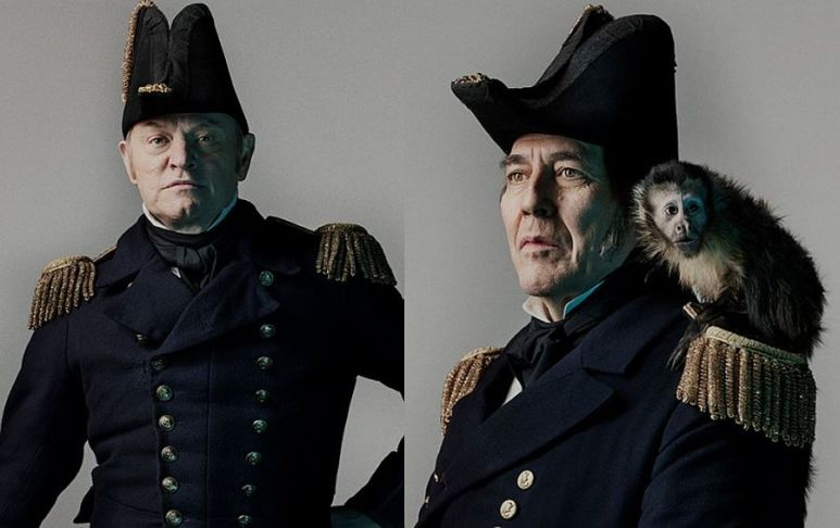 These lions of acting, (L-R) Capt. Francis Crozier (Jared Harris) and Sir John Franklin (Ciarán Hinds) made The terror a standout Pic credit: AMC