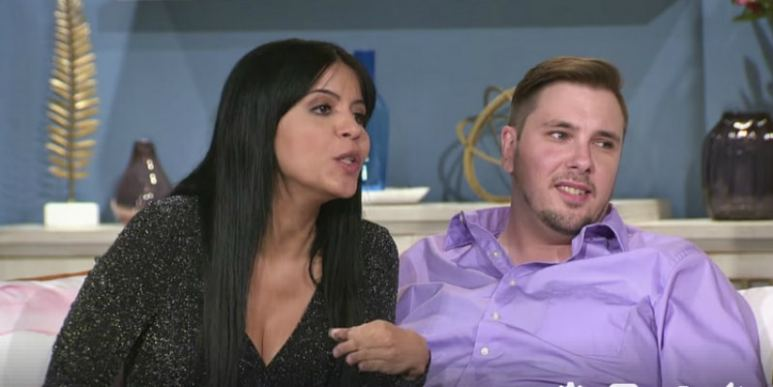 Larissa De Los Santos Lima and her husband Colt Johnson on stage at the Season 6 90 Day Fiance Tell All