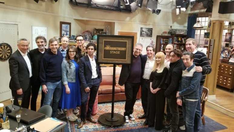 The Big Bang Theory stage dedication ceremony