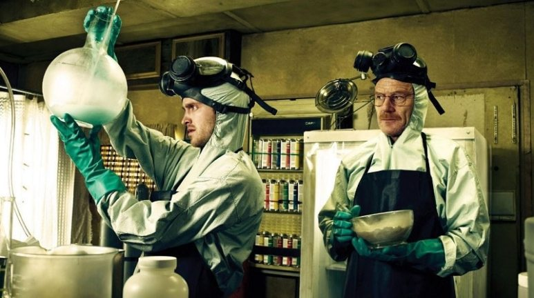 Jesse Pinkman (Aaron Paul) and Walter White (Bryan Cranston) in Breaking Bad
