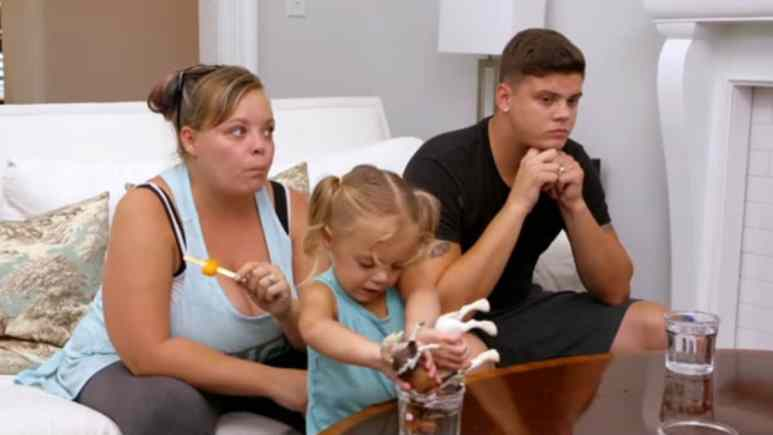 Catelynn Lowell and Tyler Baltierra with their daughter Novalee