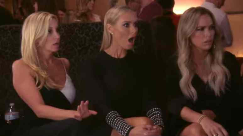 Dorit Kemsley with Teddi Mellencamp and Erika Jayne in the RHOBH trailer