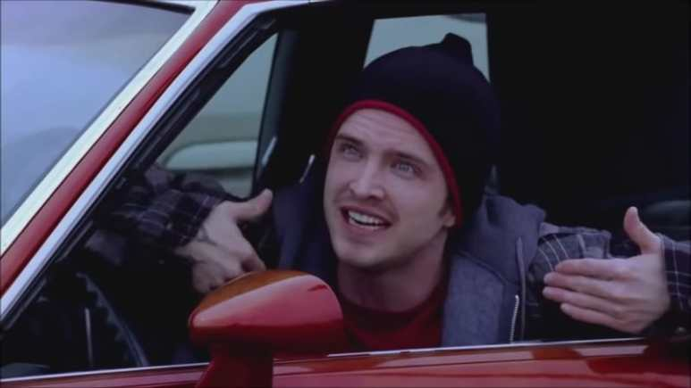 Aaron Paul as Jesse Pinkman on Breaking Bad