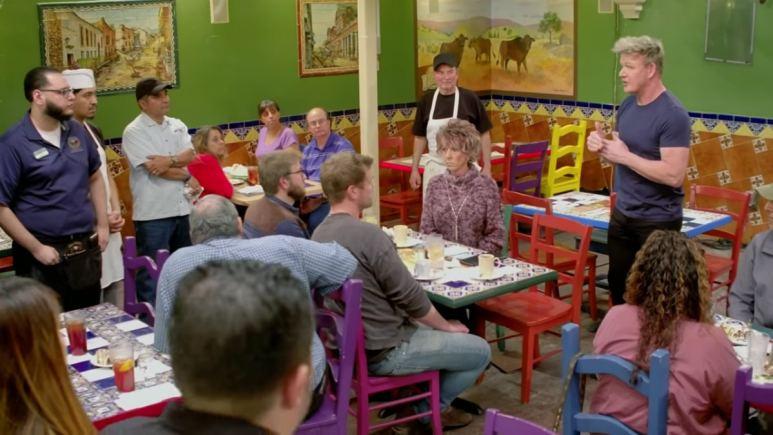 Gordon Ramsay in the Los Toros Mexican Restaurant