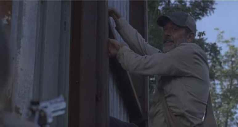 Negan in a scene with JG during The Walking Dead midseason premiere